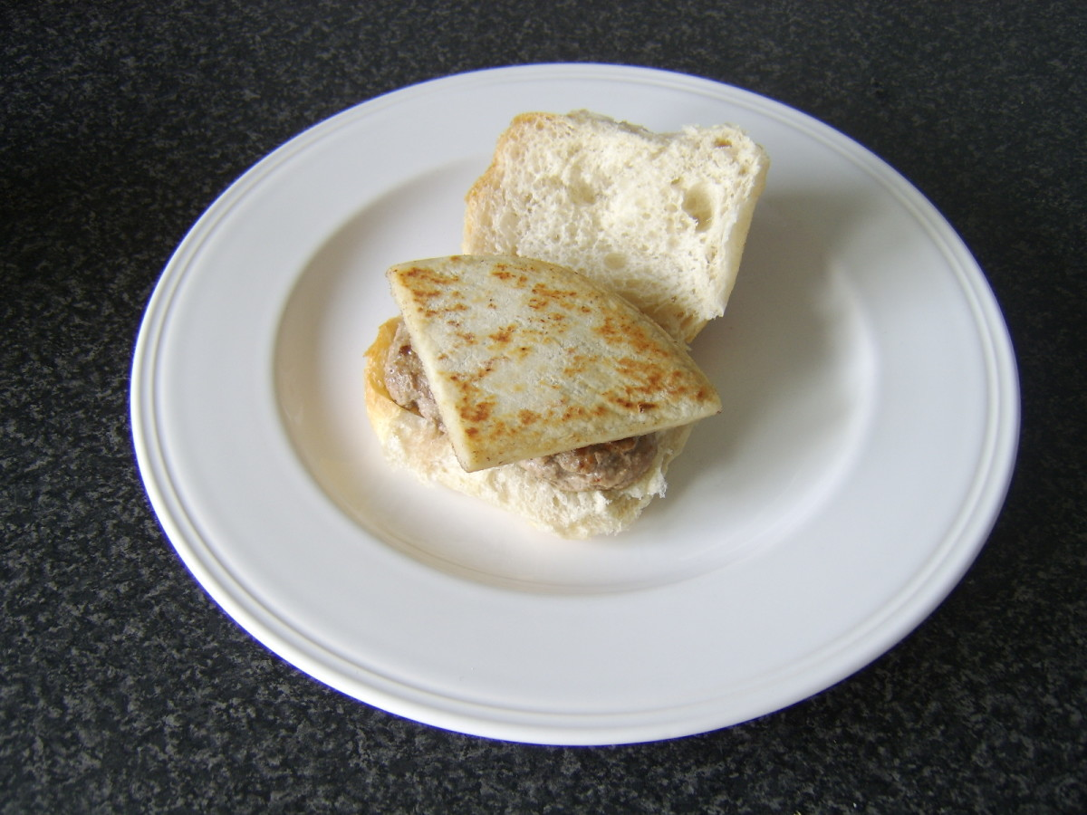 Roll and Lorne Sausage and Tattie Scone
