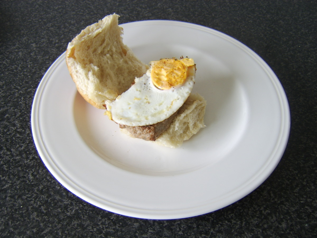 Roll and Lorne Sausage and Fried Egg