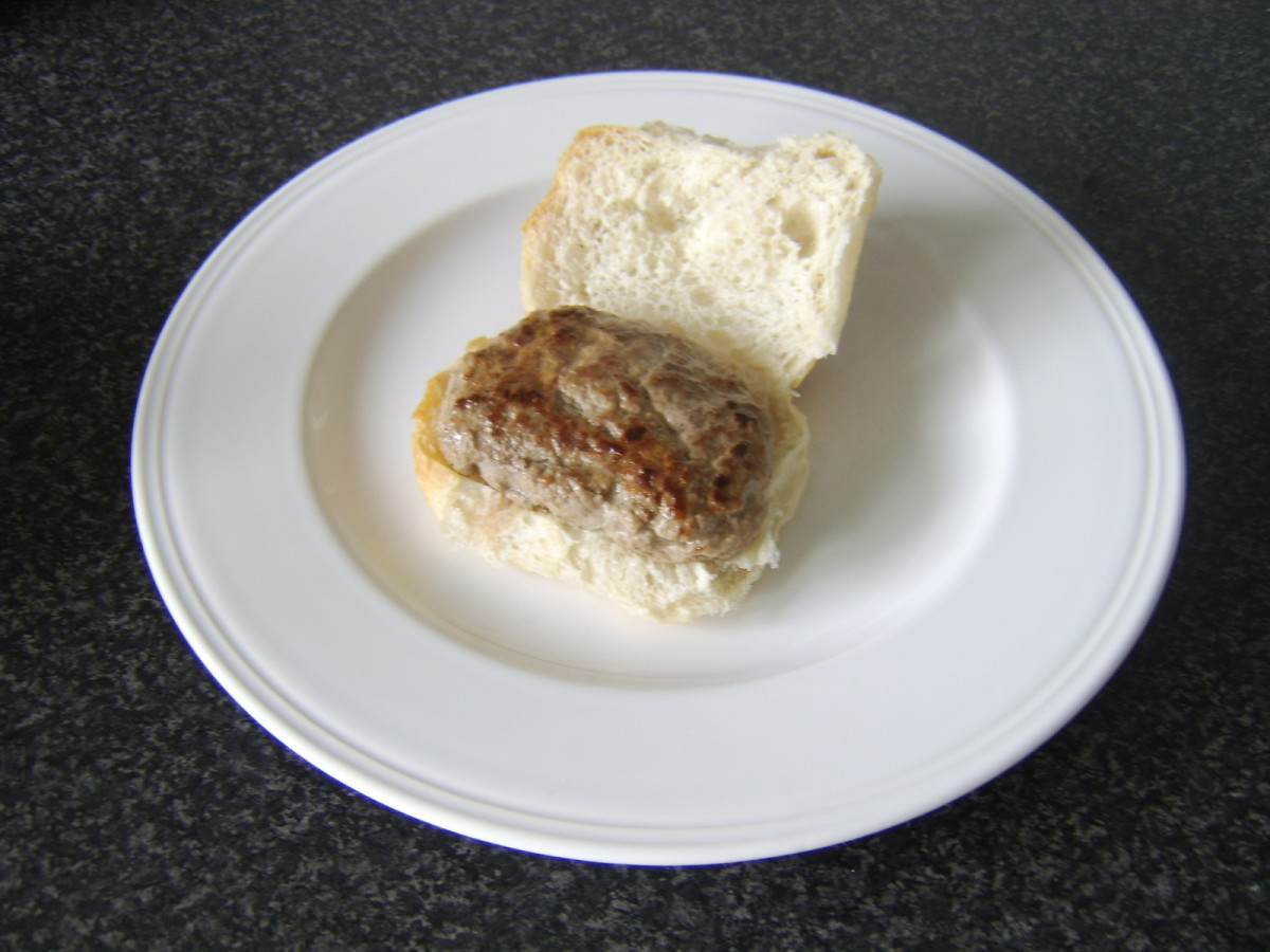 Lorne Sausage on a Bread Roll