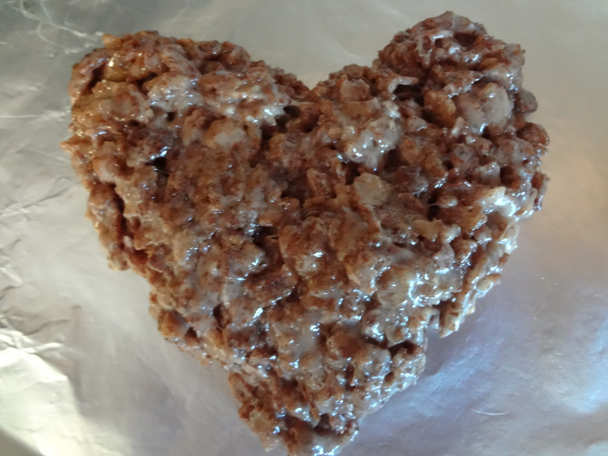 Heart-Shaped Cocoa Krispies Treats