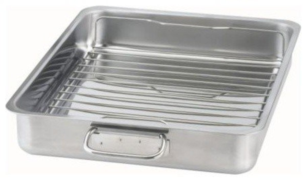 A grilling pan like this will produce pork chops that are never soggy. Your pork chops need to be up out of the juices.