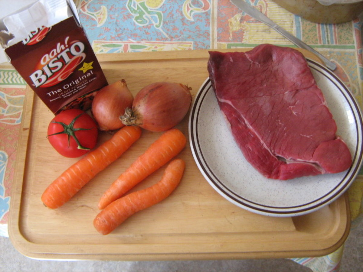 Ingredients for Braised Steak