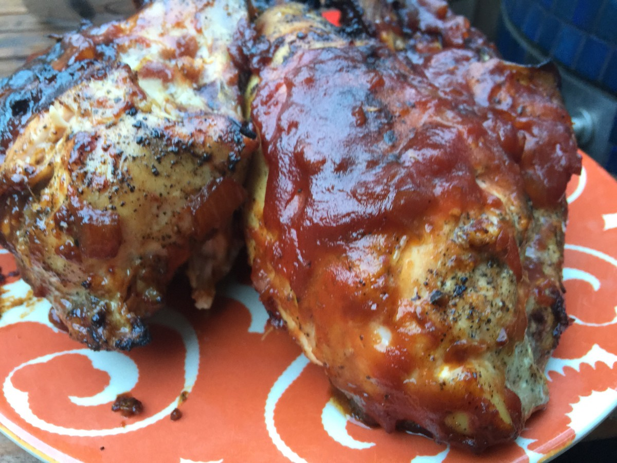 chicken with Whiskey BBQ Sauce