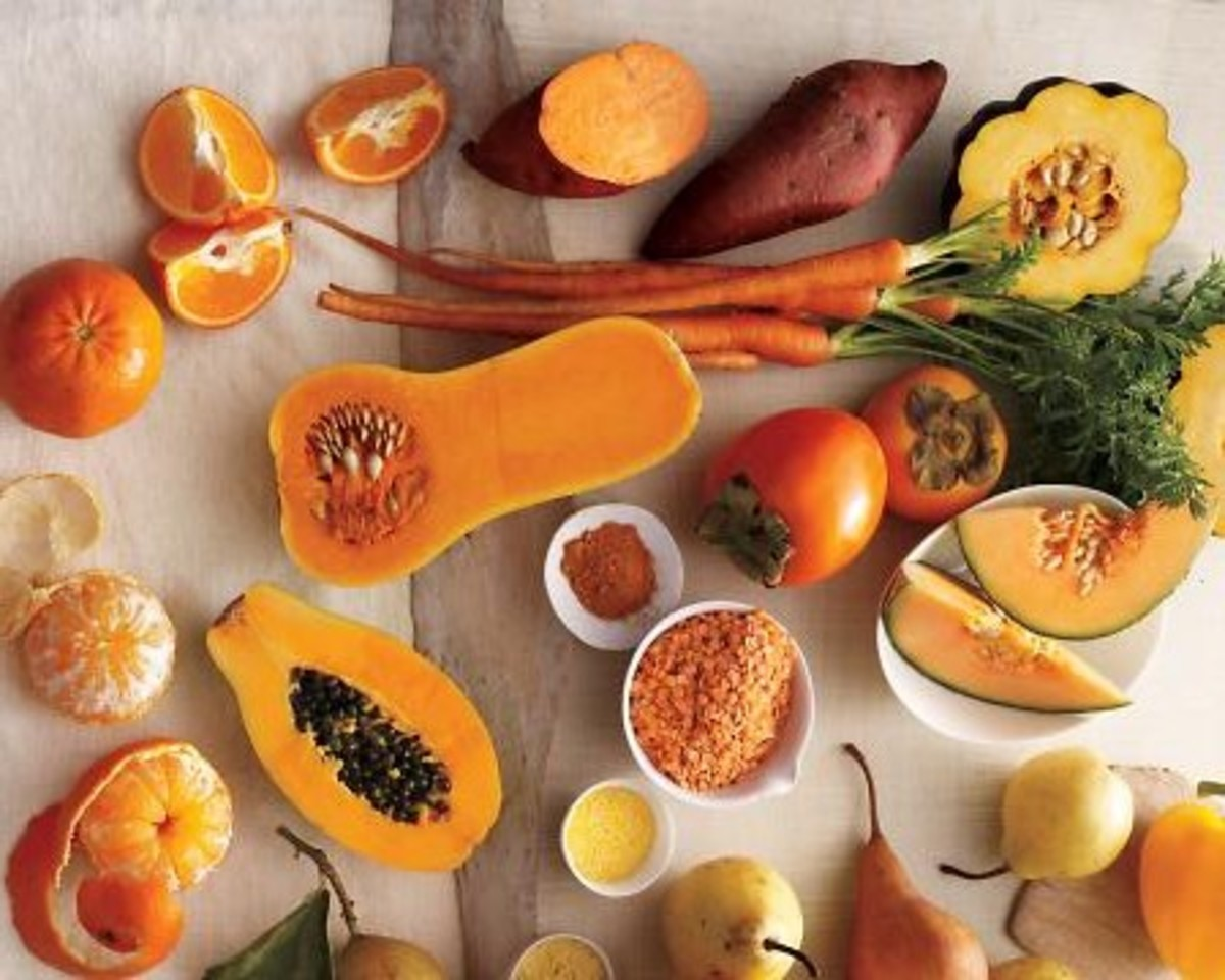 Eat your yellow vegetables using variety.