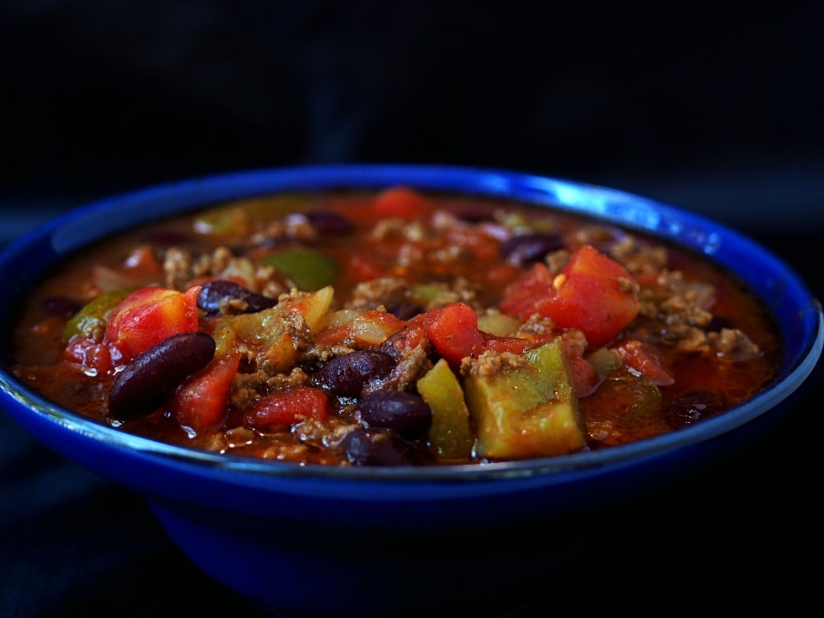 One way to make your chili healthier is to add extra vegetables—yummy!