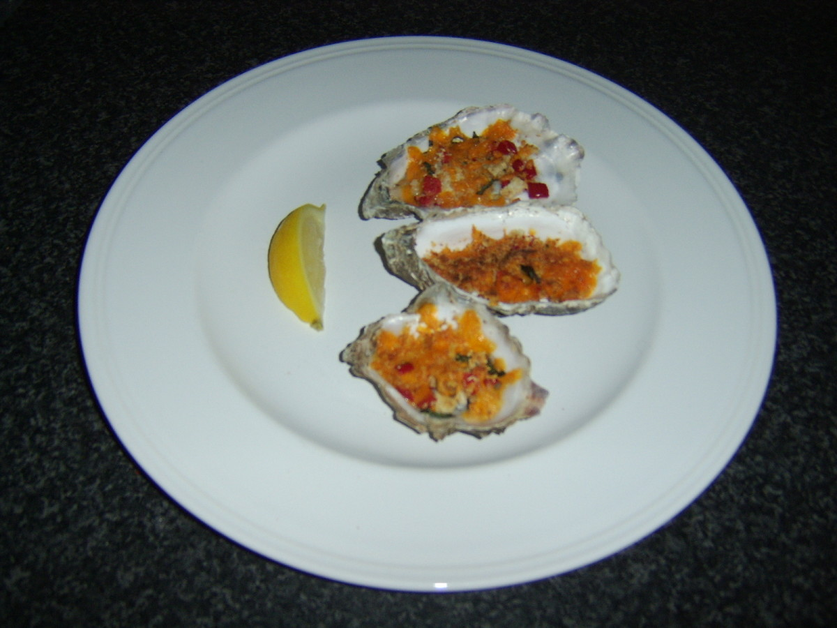 Cheese and Herb Crusted Grilled Oysters
