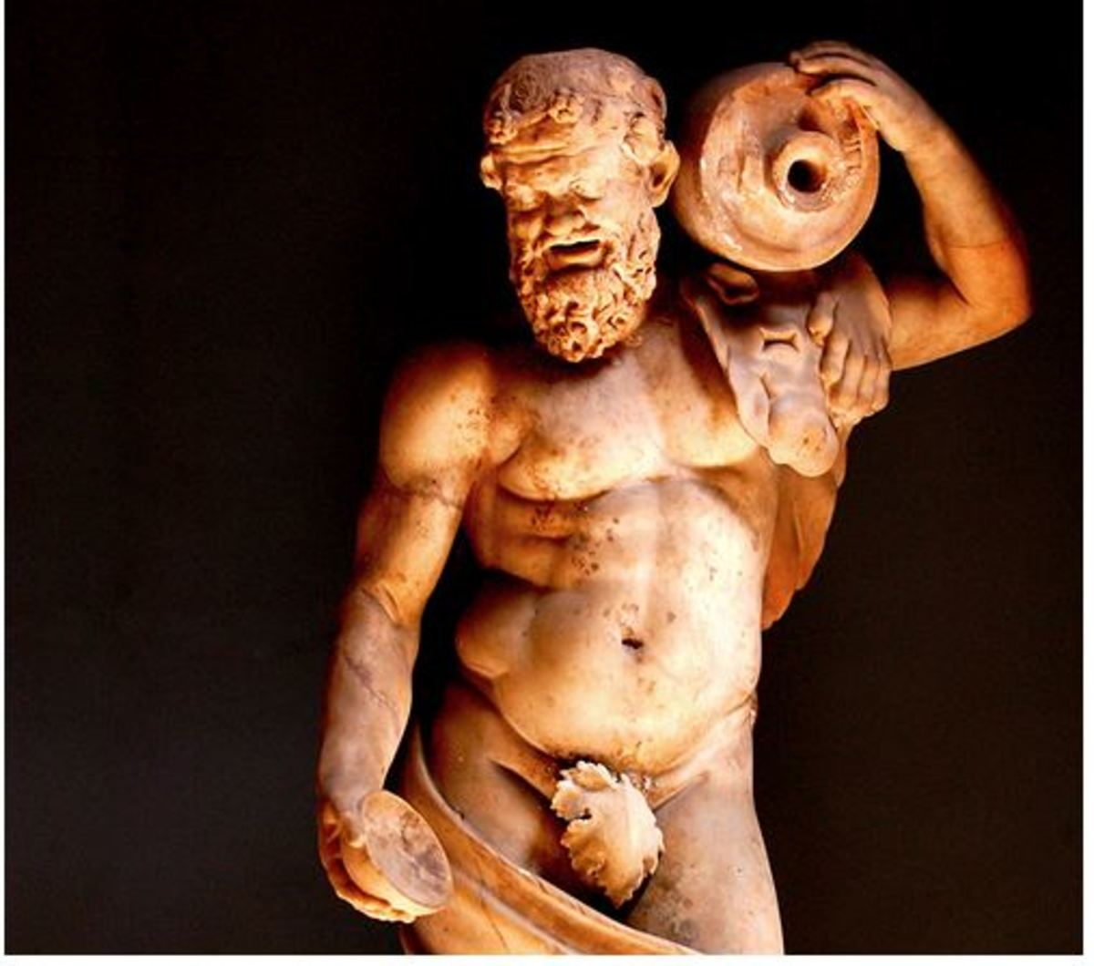 A very virile looking Bachus, still the god of wine