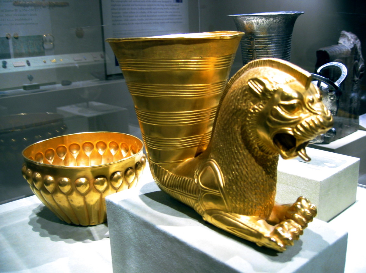 Ancient Persian drinking vessel, 5th century B.C.