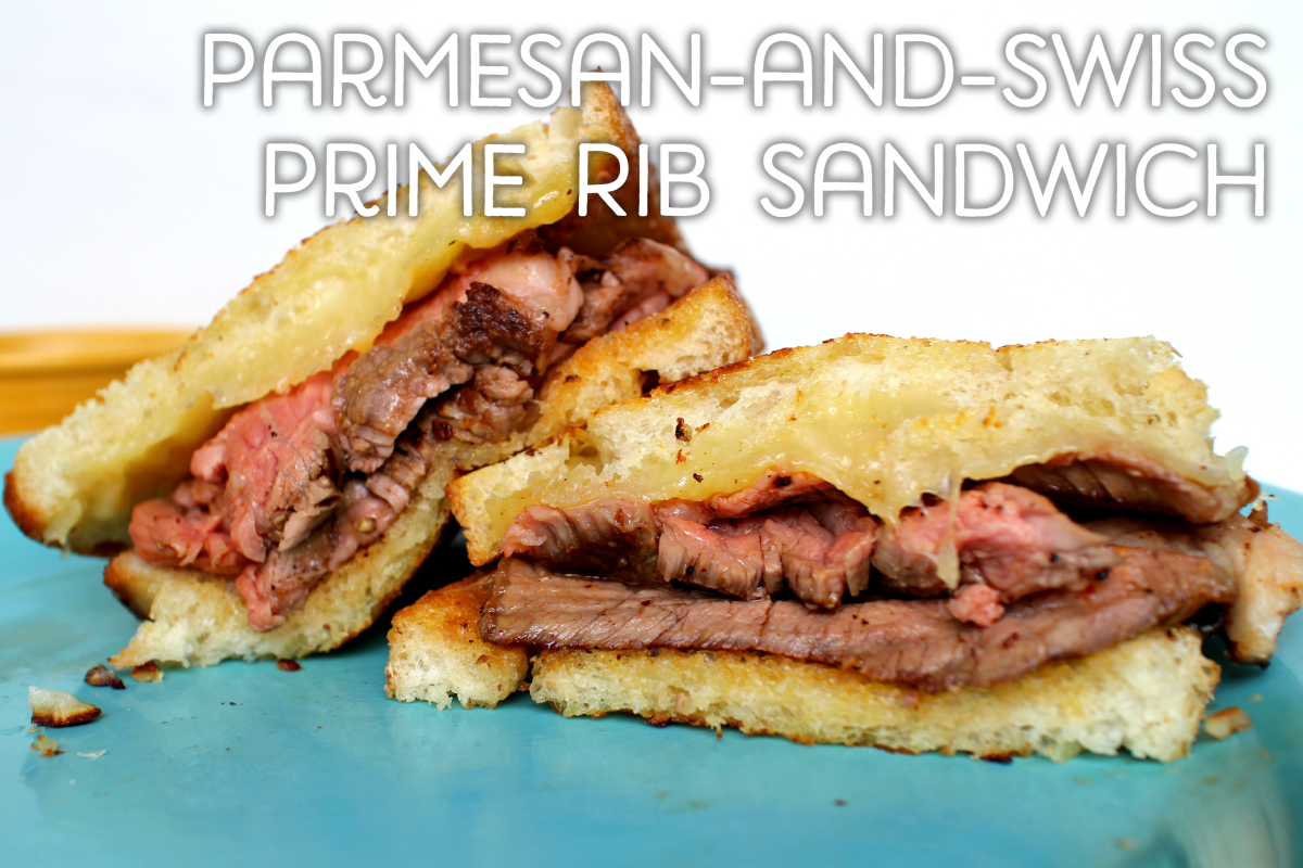 Parmesan-and-Swiss Prime Rib Sandwich