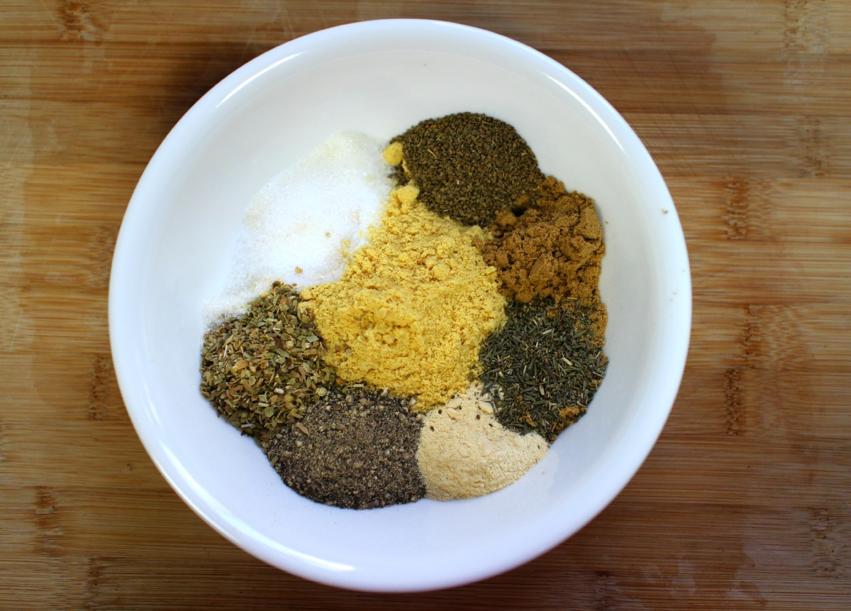 The spices in the dry rub.