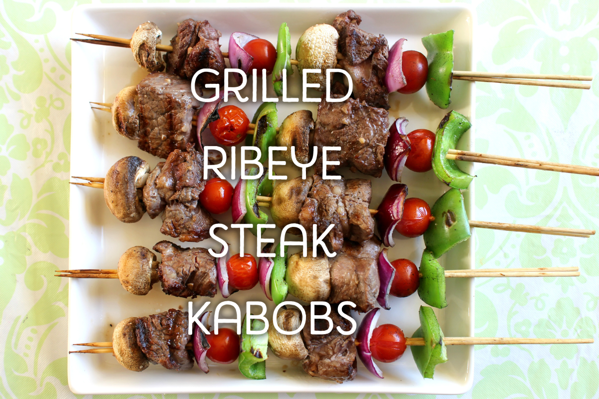 Grilled Ribeye Steak Kabobs