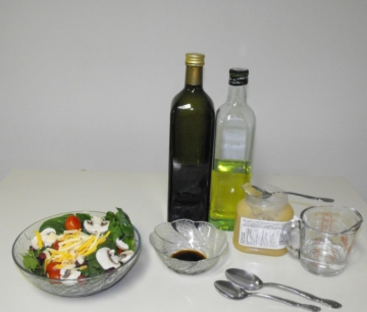 Homemade Oil and Balsamic Vinegarette Salad Dressing