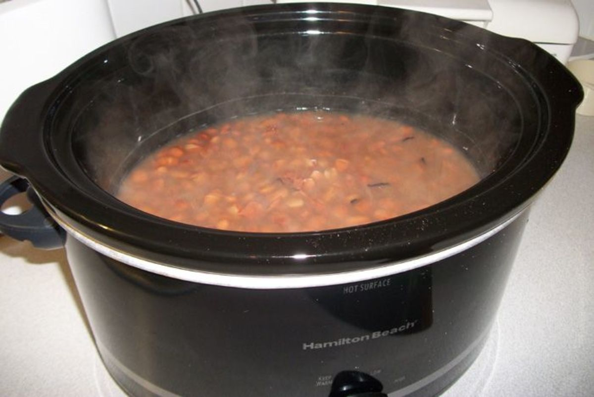 I love cooking pinto beans in my Hamilton Beach Crock Pot.