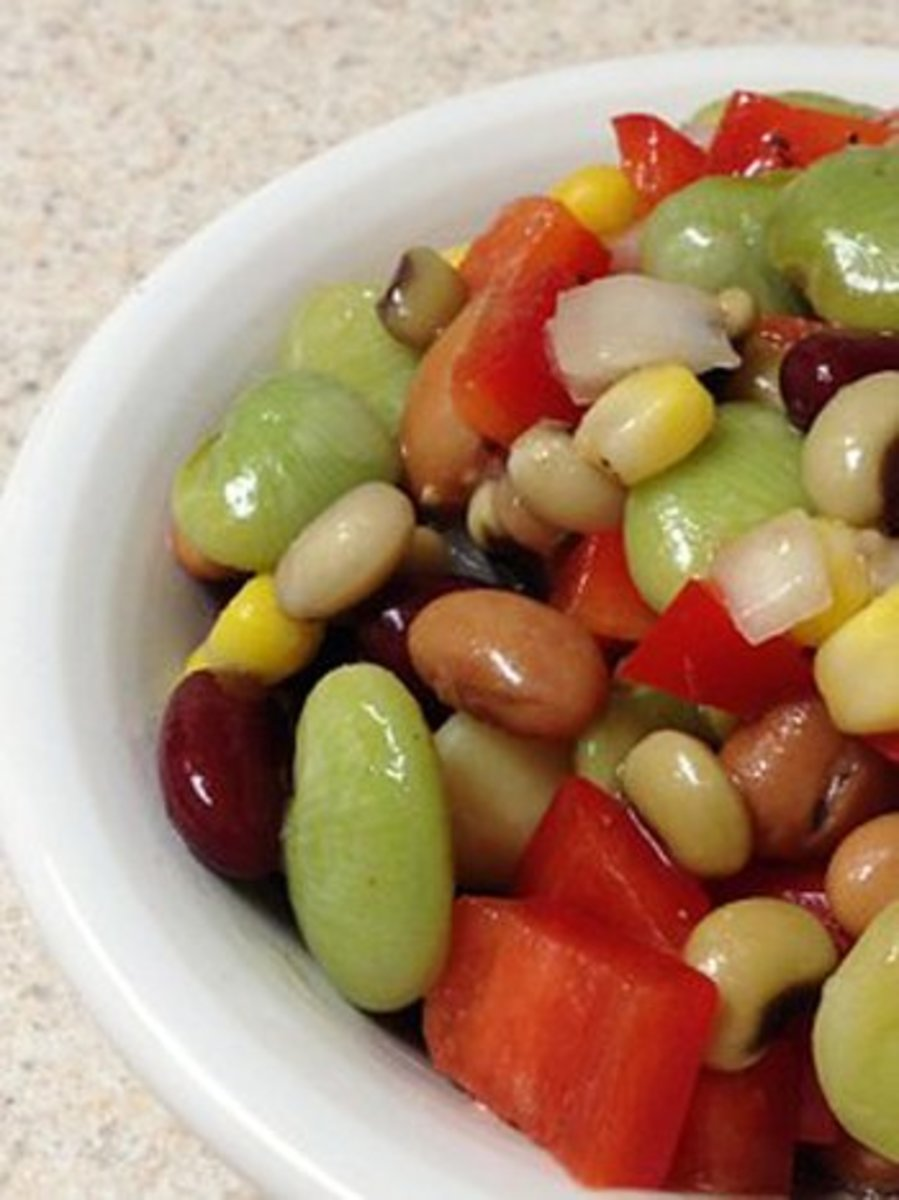 Make bean salad with leftover pinto beans.
