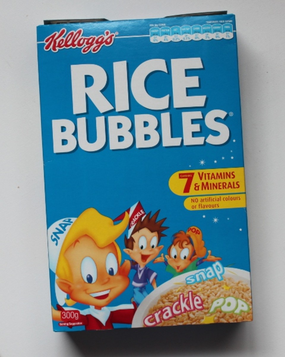I use Kellogg's Rice Bubbles to make these Chocolate Crackle Surprises.