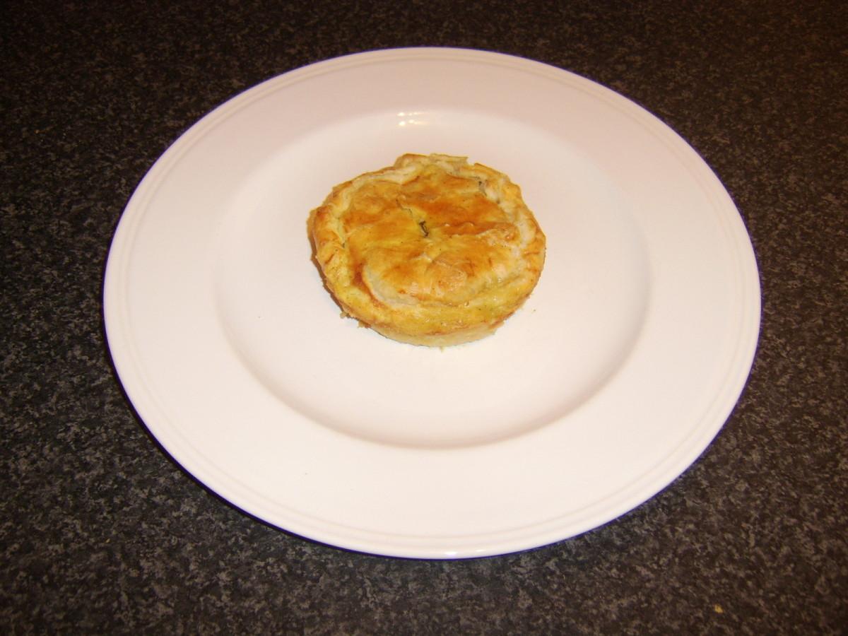 Individual Chicken and Mushroom Pie