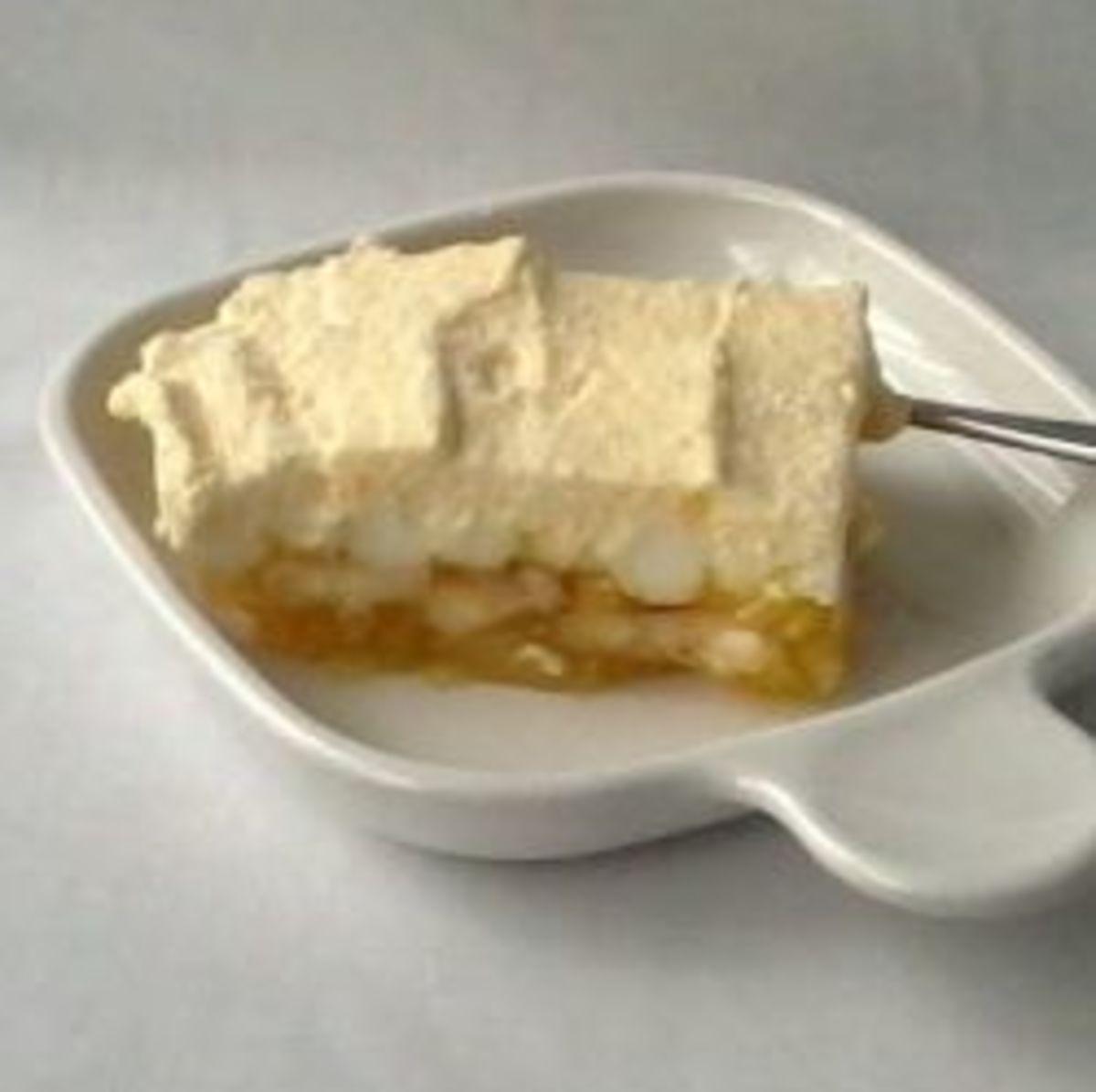 Lemon Jell-O, a classic American dessert.