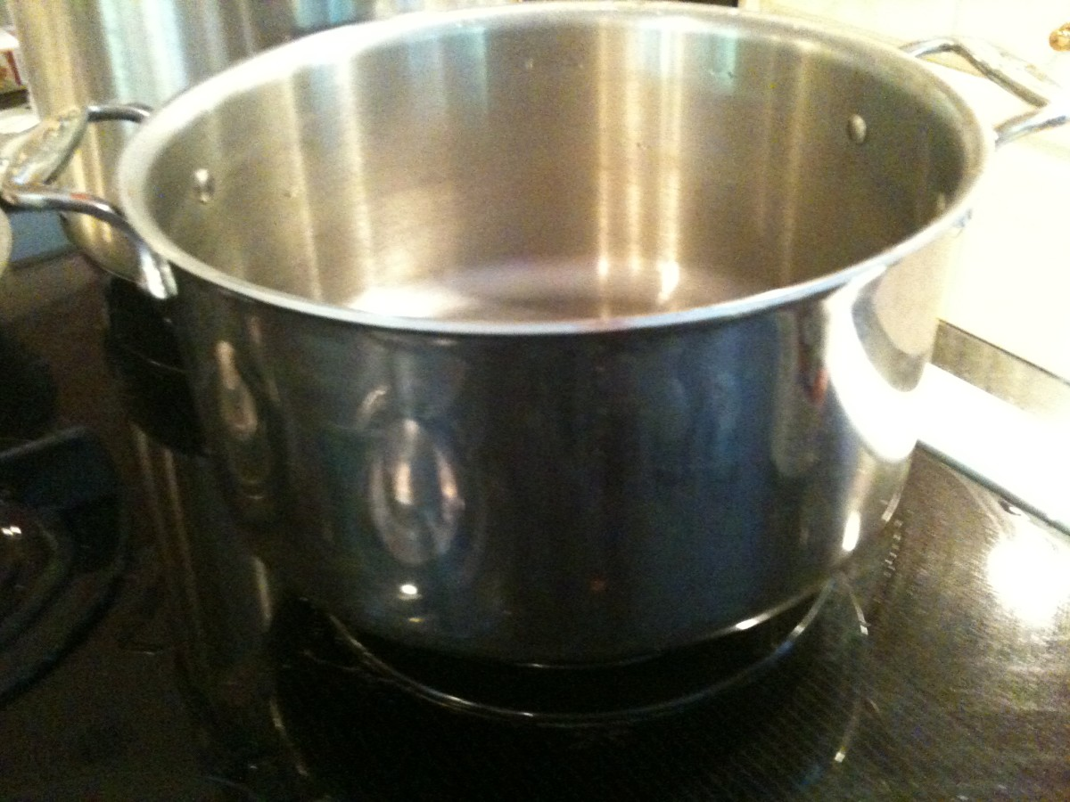 Stockpot for cooking jam