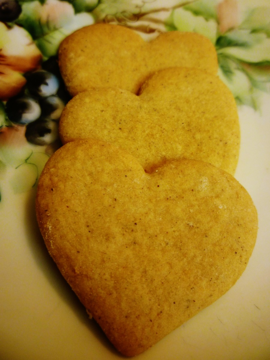 Heart-shaped pepper cookies