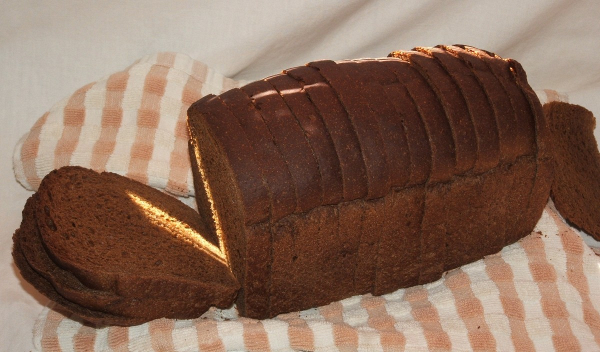 A dark rye bread is a perfect accompaniment to a dish of kielbasa and cabbage.