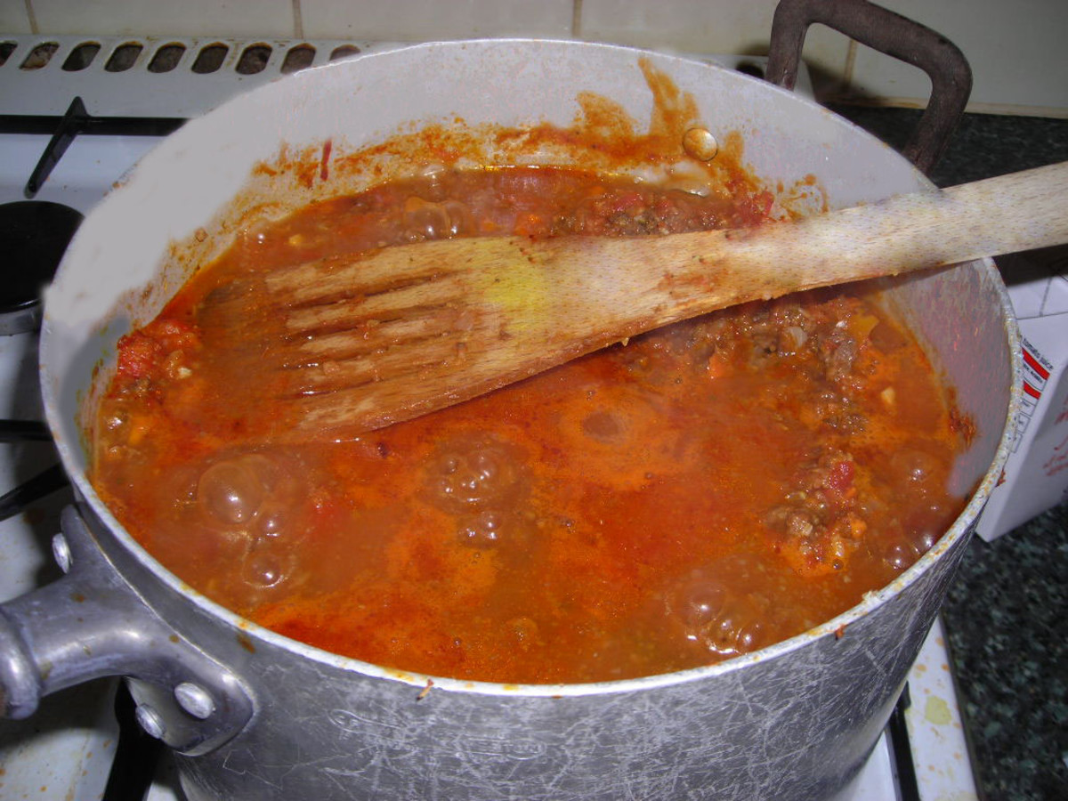 Tomato Sauce Mixed With Minced Meat