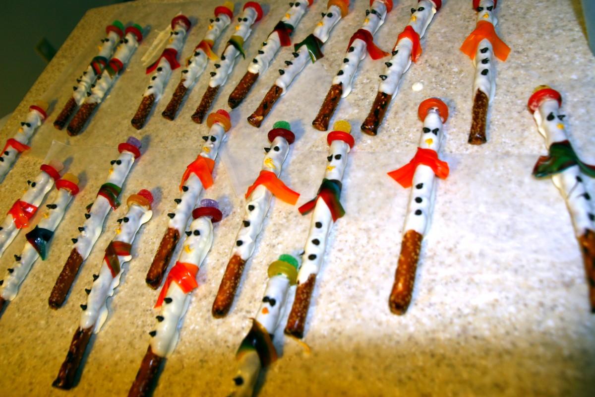 Snowmen drying