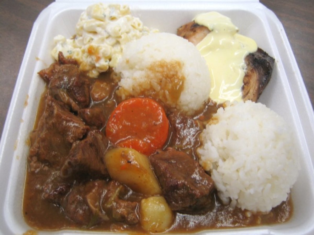 Beef Stew Mahi Mahi Mixed Plate Lunch