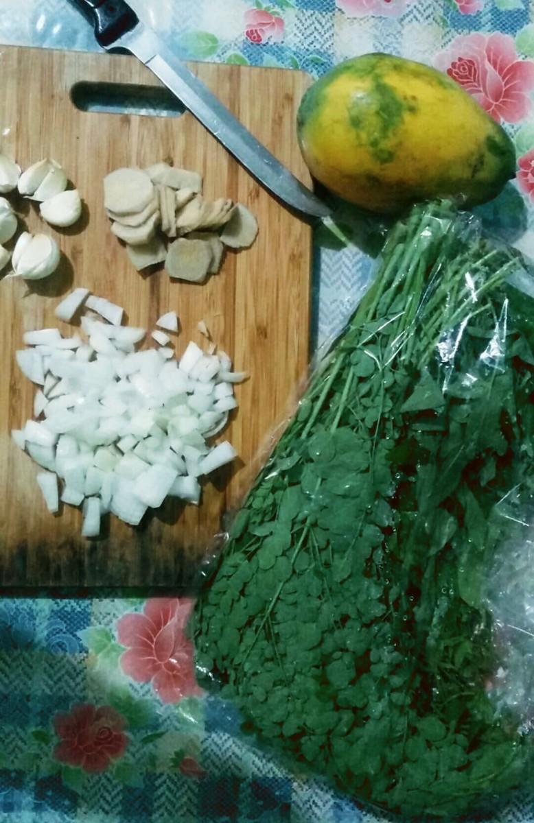 Tinolang Manok Ingredients