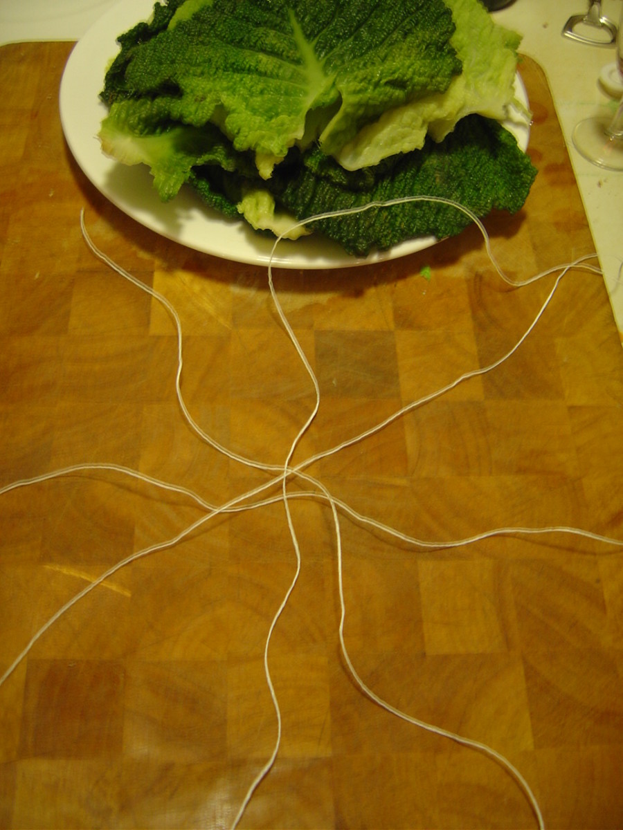 Arrange the kitchen string