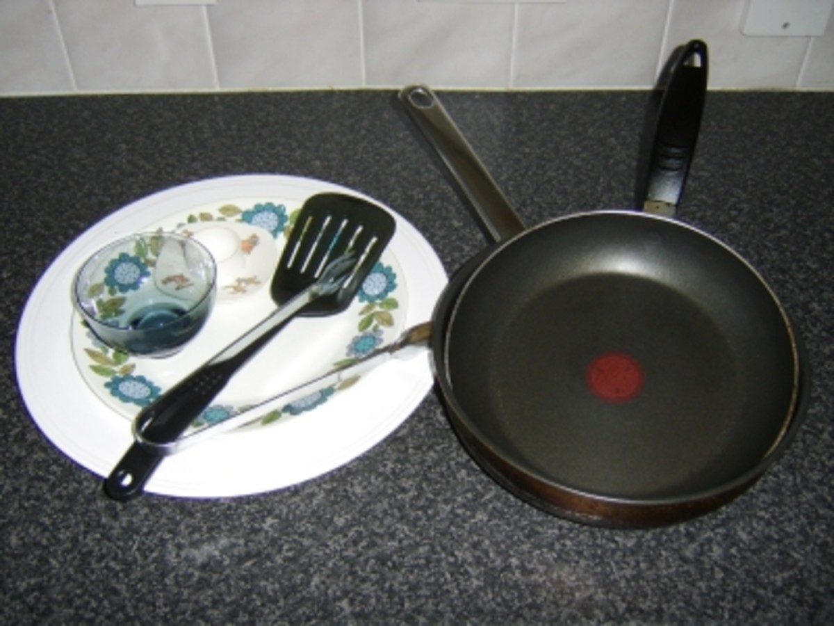 Principal Cooking Utensils Required to Make a Full Scottish Breakfast
