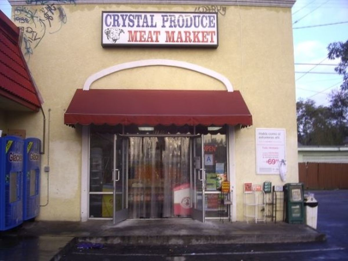 Crystal Produce Meat Market in Lynwood, the place where I bought my trial bag of Taco Doritos.