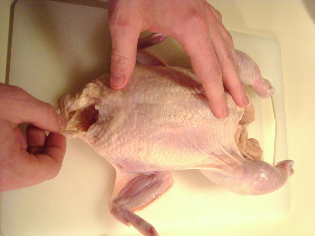 Big hands?  No, small chicken!