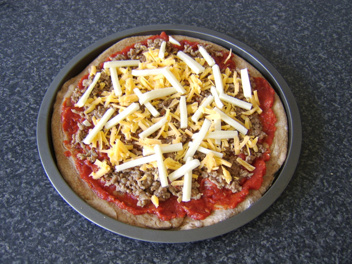 Cheese tops spicy beef