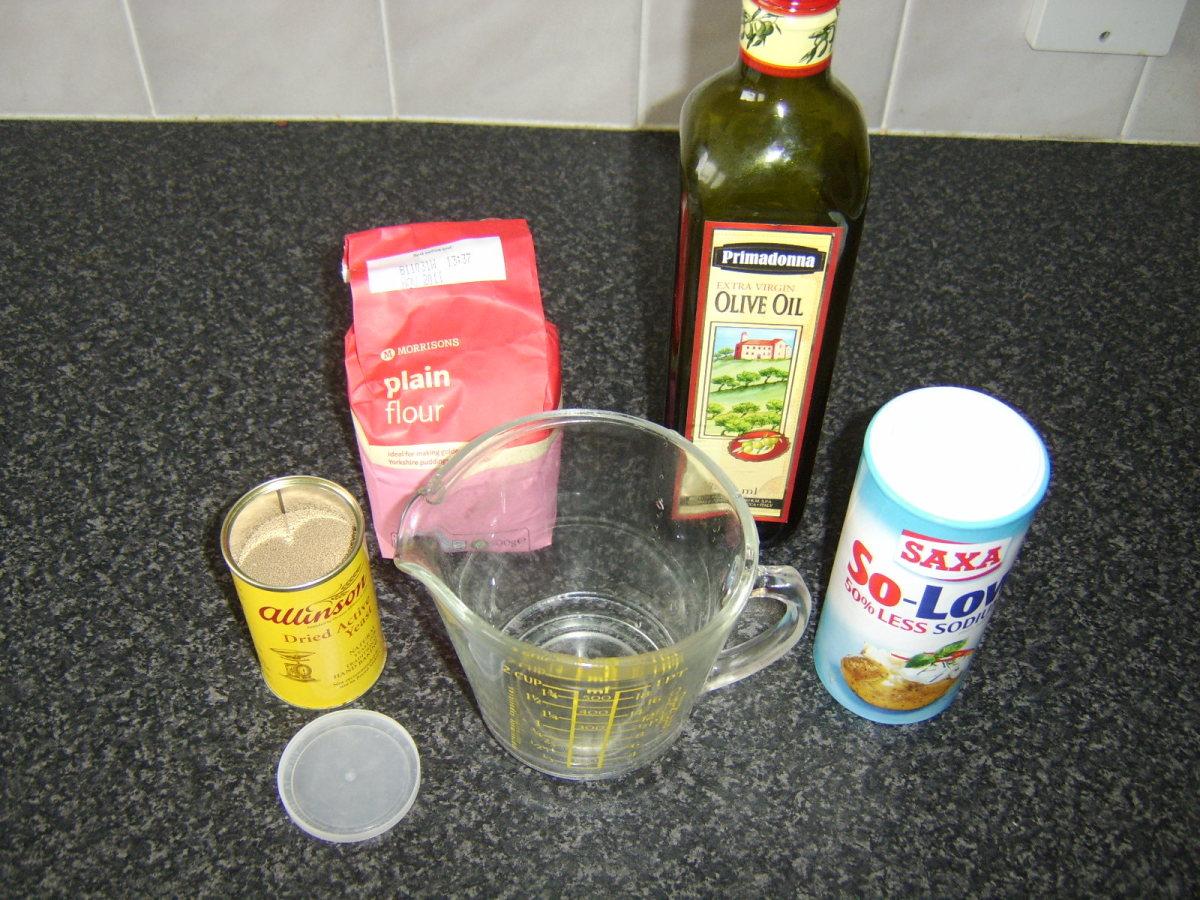 Pizza dough ingredients