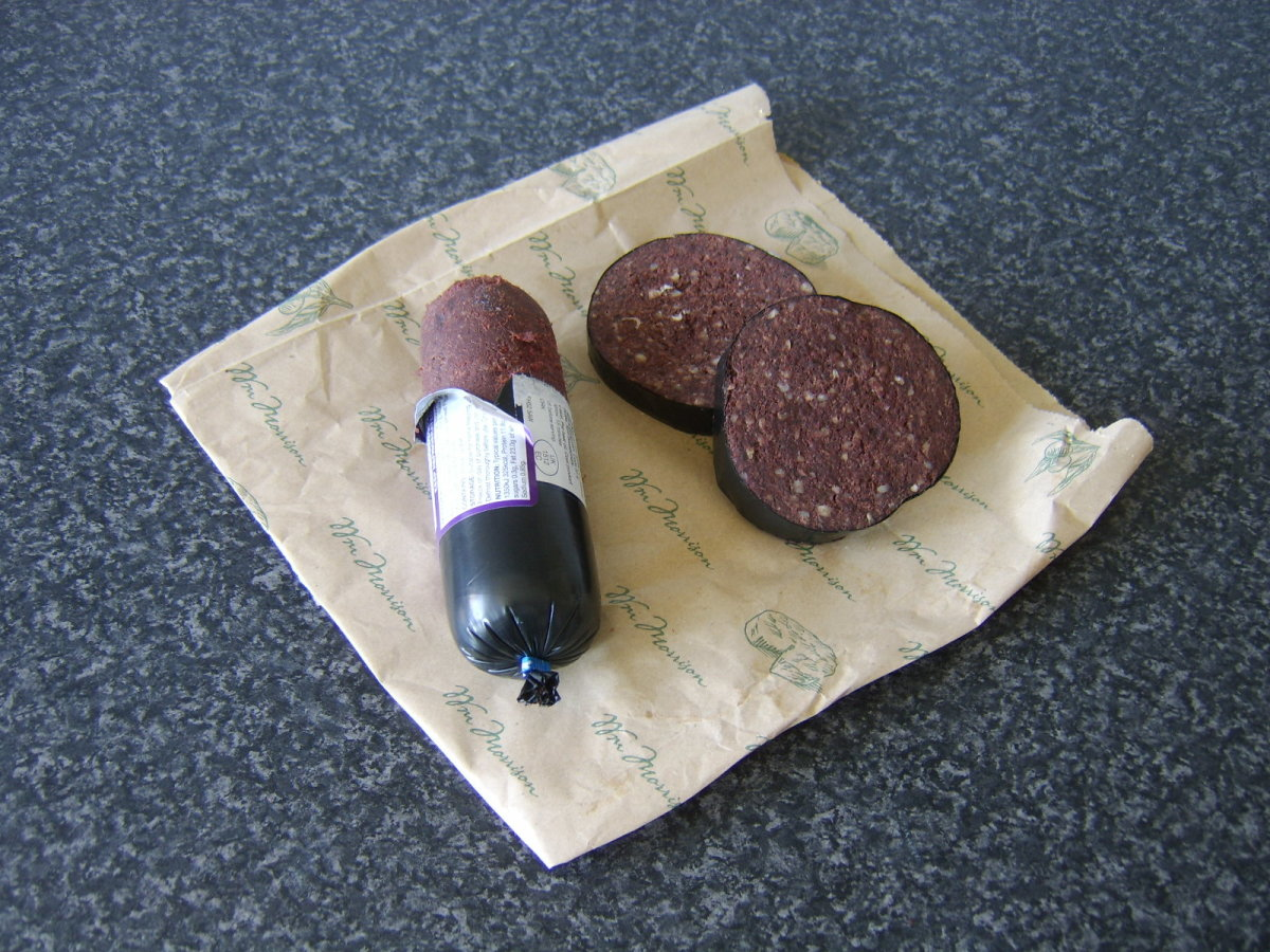 Black pudding is sold in different forms