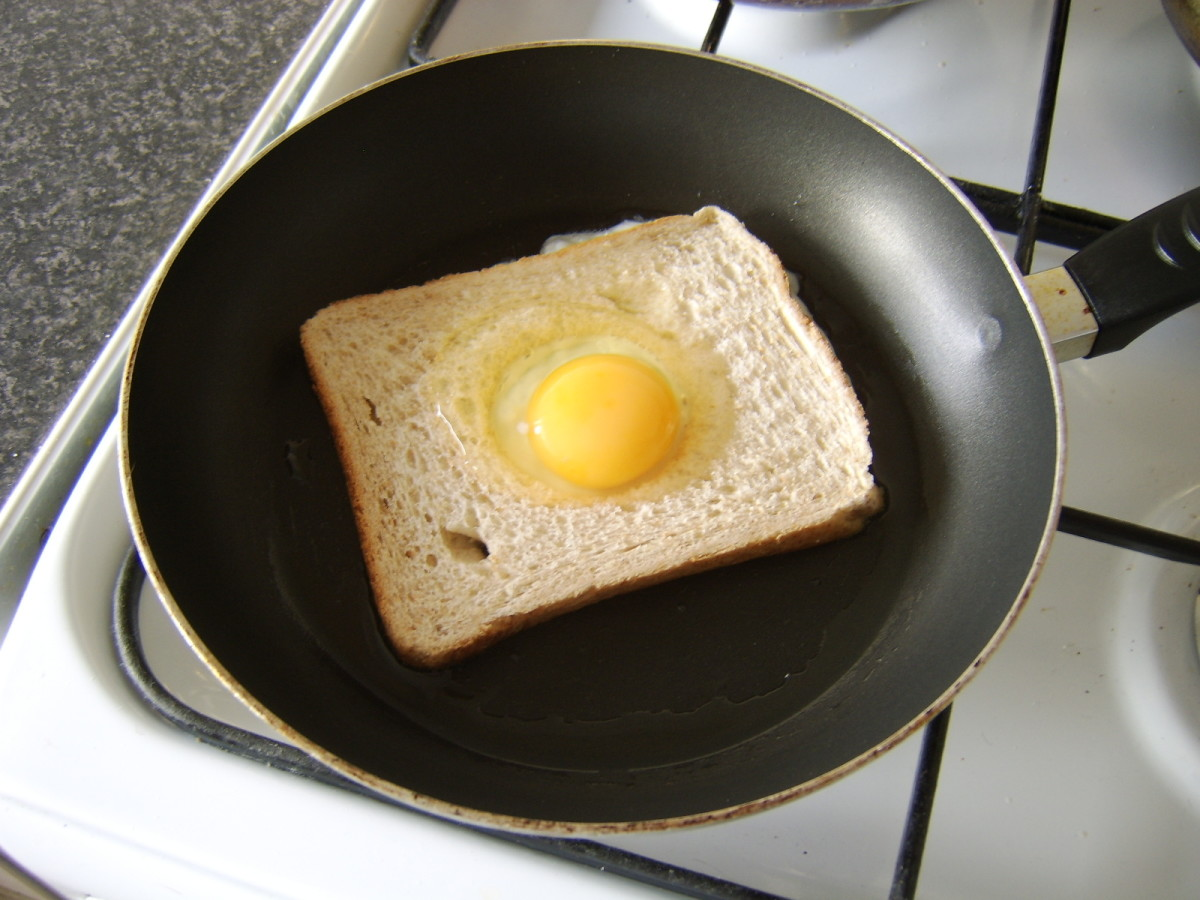 Fry the eggy bread in a separate pan
