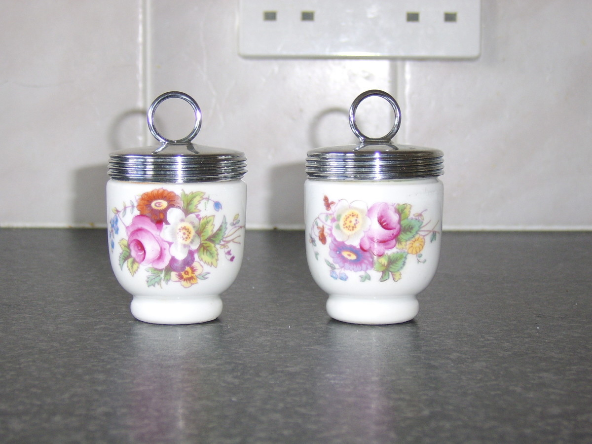 Royal Worcester porcelain egg coddlers