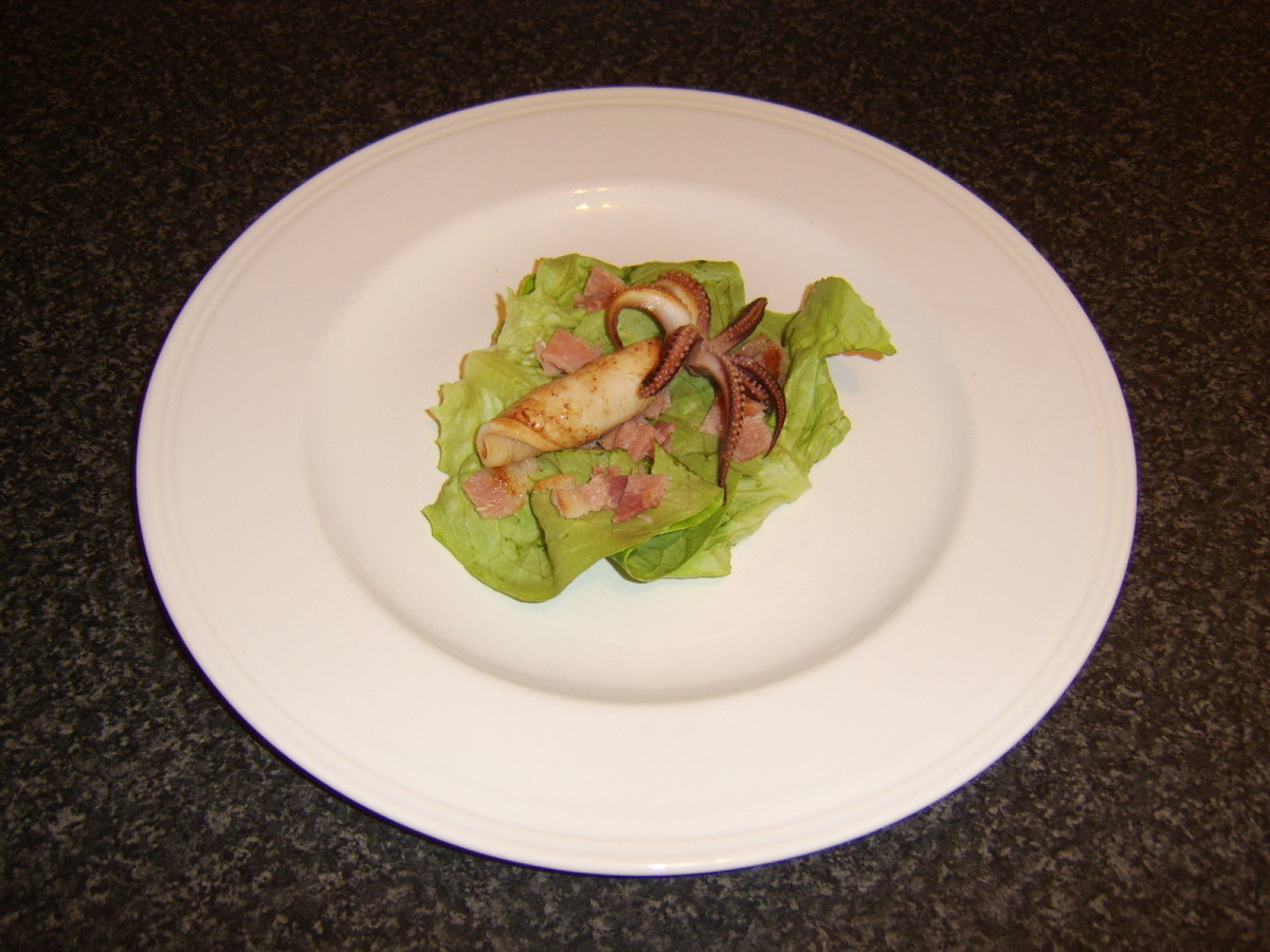 Pan-fried calamari (squid) on a bacon-and-lettuce salad is just one of the recipes you will find on this page.