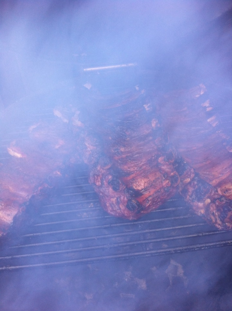 Ribs looking delicious and almost done!