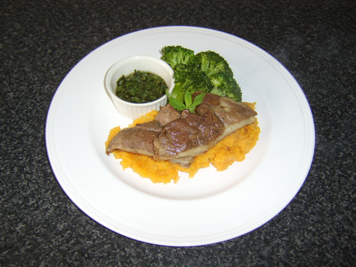 Sweet Potato Mash with Swede Turnip, Lamb Cutlets and Broccoli