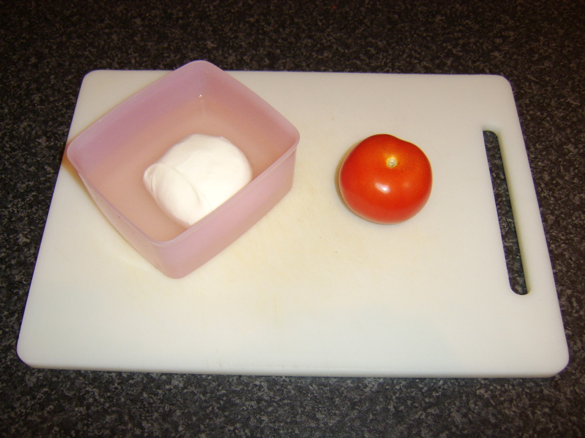 Buffalo mozzarella in brine and tomato