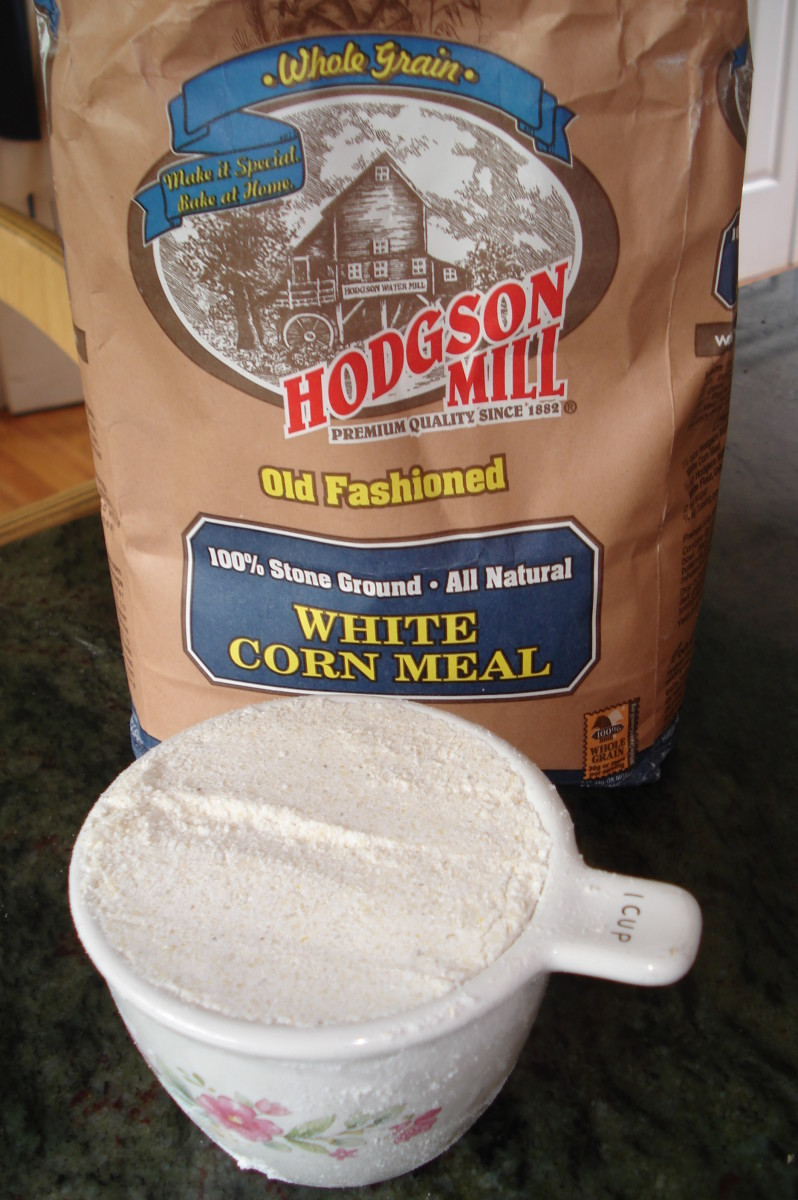 This is the corn flour I used in this recipe.  I like the whole grain texture and it is healthier than processed flour.