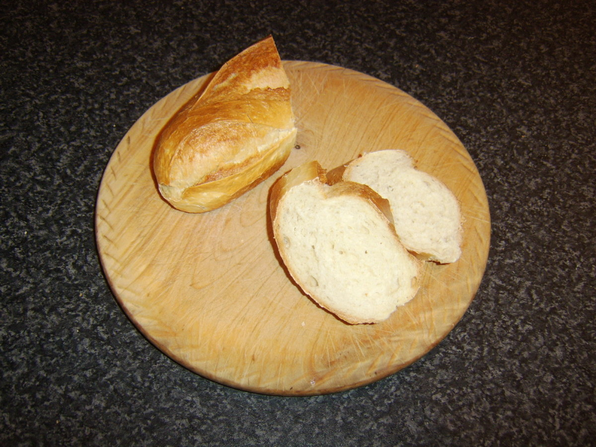 Slices of bread for making bruschetta