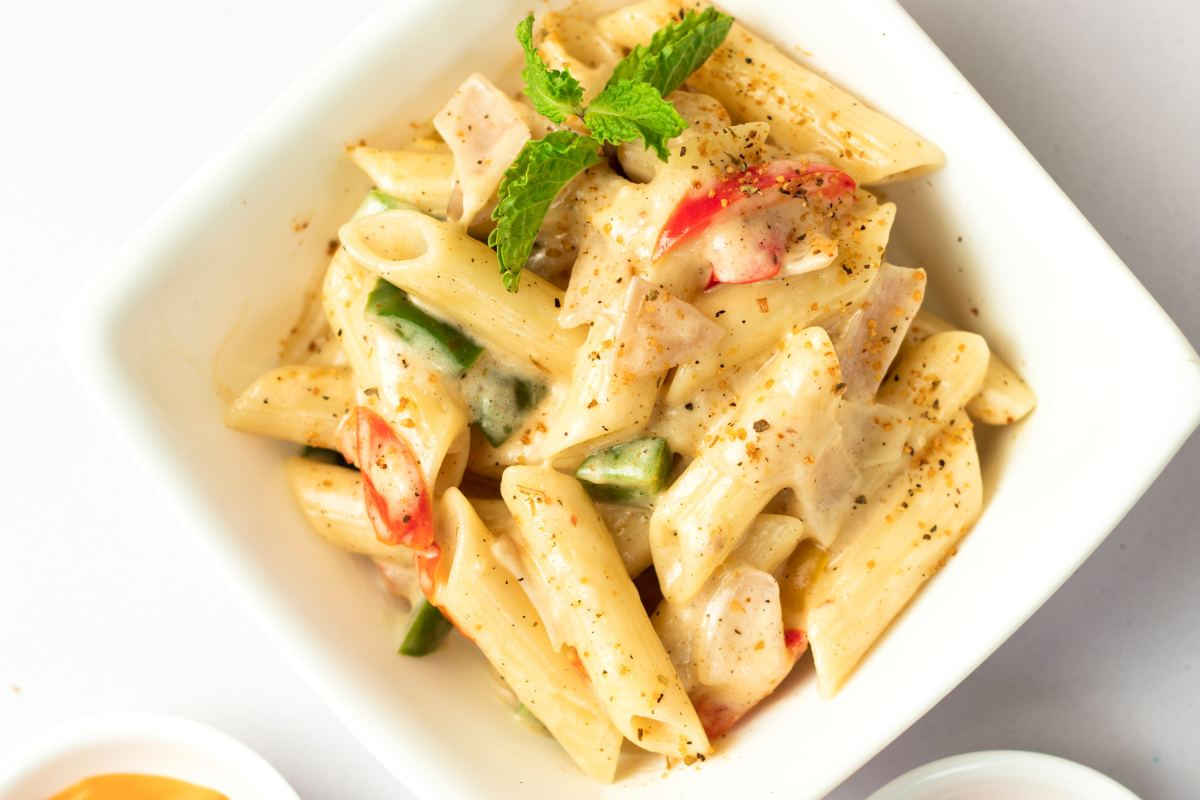 Creamy pasta sauce.