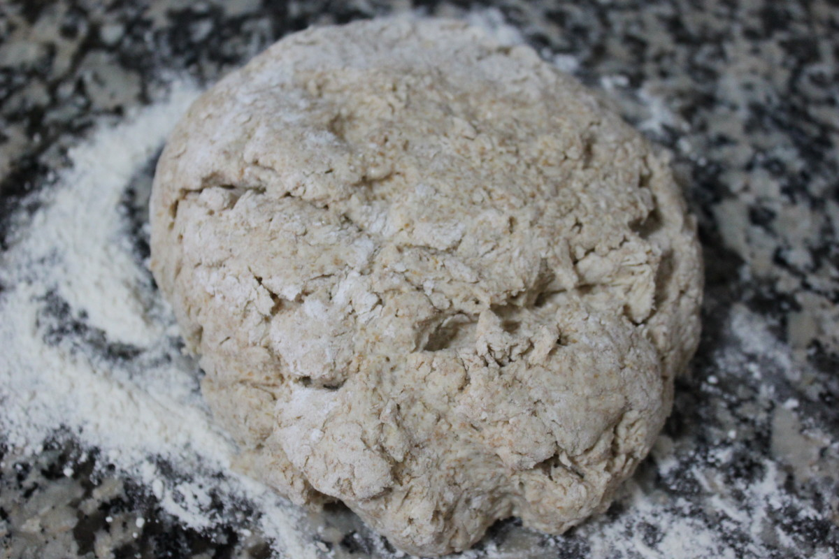 Knead for just a few minutes