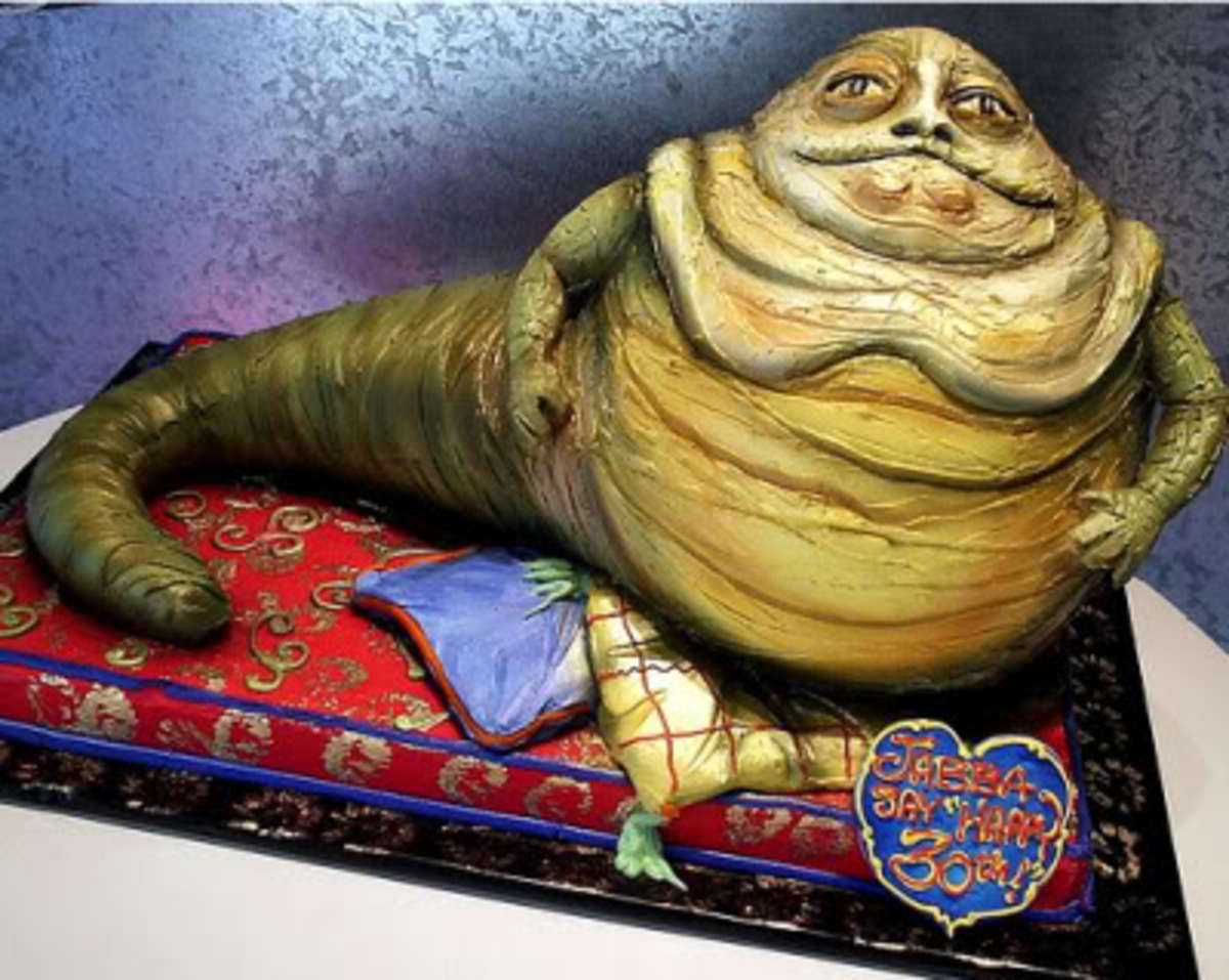 Star Wars Jabba cake.