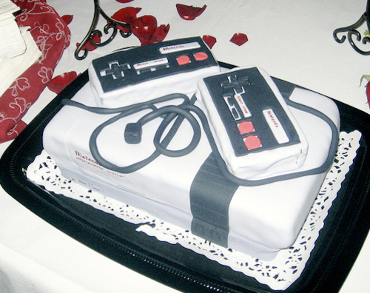 I really love this Nintendo (NES) cake!