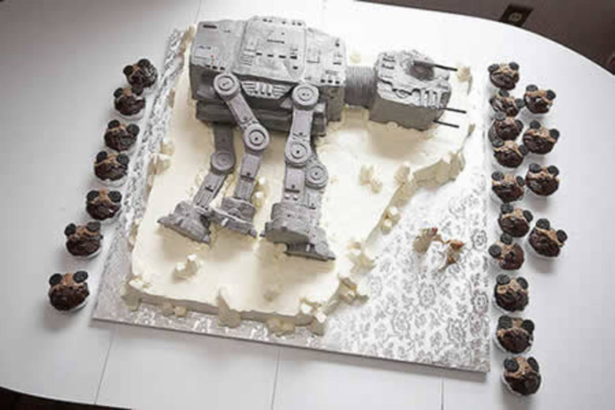 AT-AT Star Wars cake