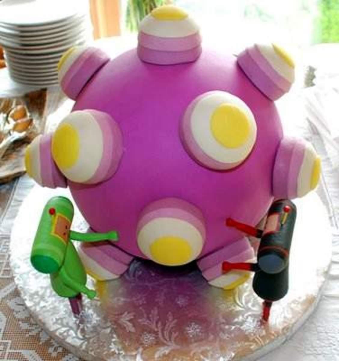Katamari damacy cake