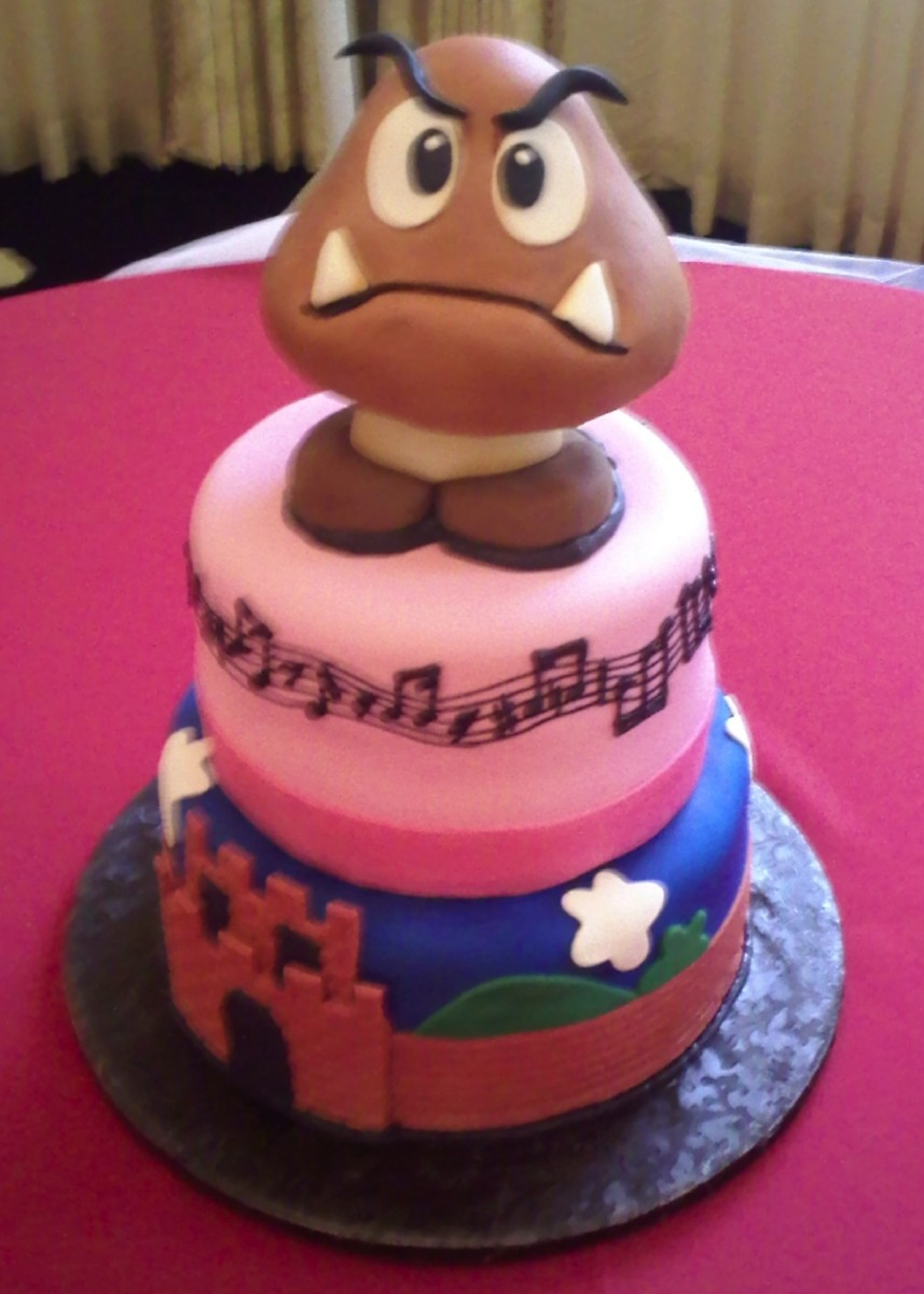 Goomba Mario Bros cake.